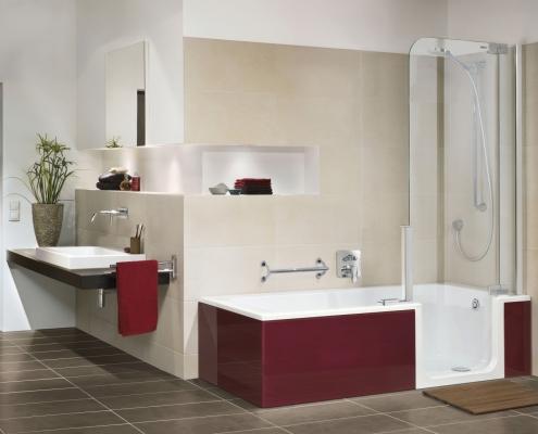 Artweger Barrierefreies Bad Dusche Rot